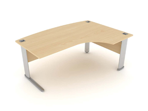 Optima desk in ash with silver leg