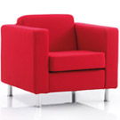 Dorchester reception chair red