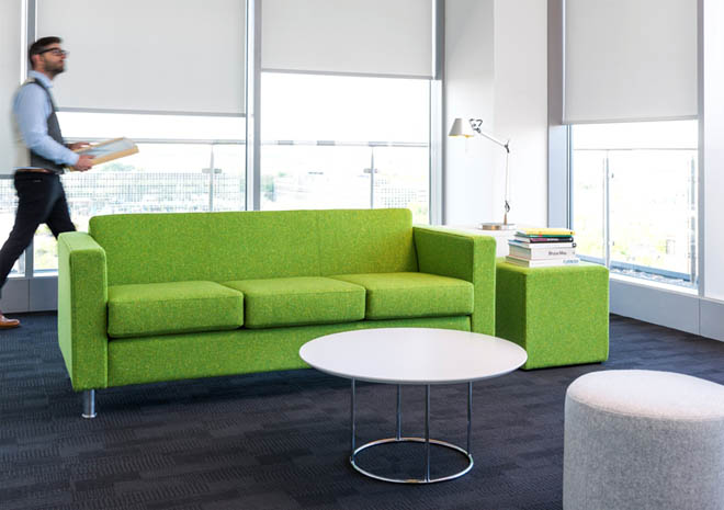 Dorchester reception sofa in green