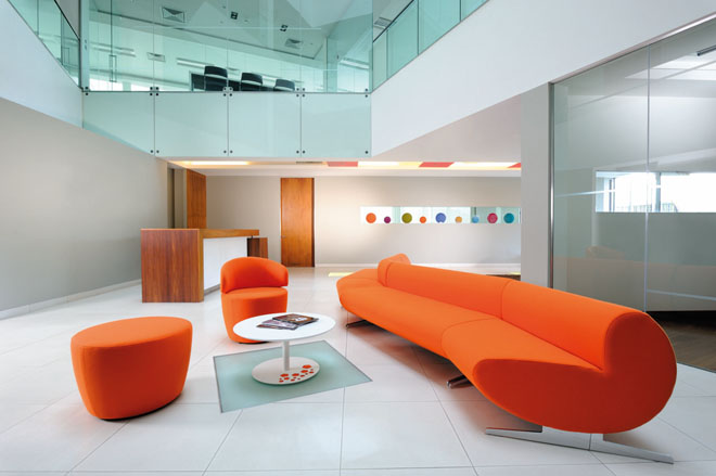 Ocee office reception sofa set orange
