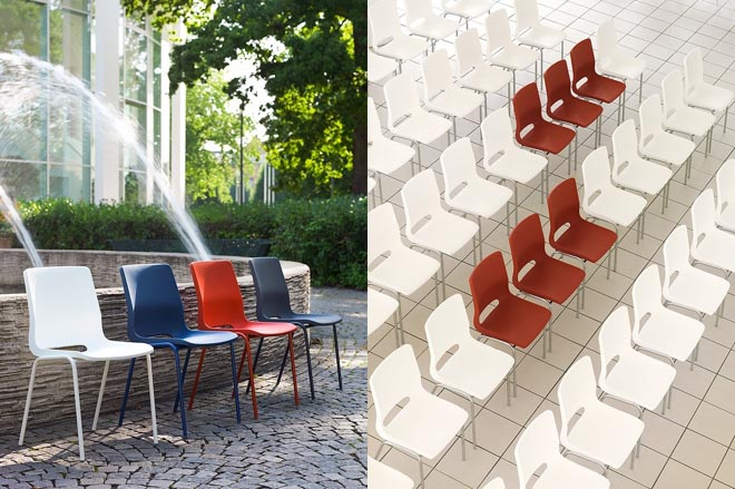 RBM Ana stacking chair colours