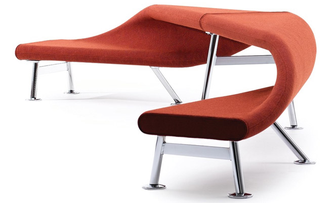 RBM Flip and Fold bench seat in Red