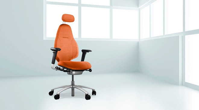 RH Mereo 220 chair in orange