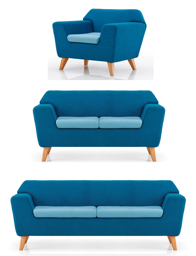 Strech office sofa selection