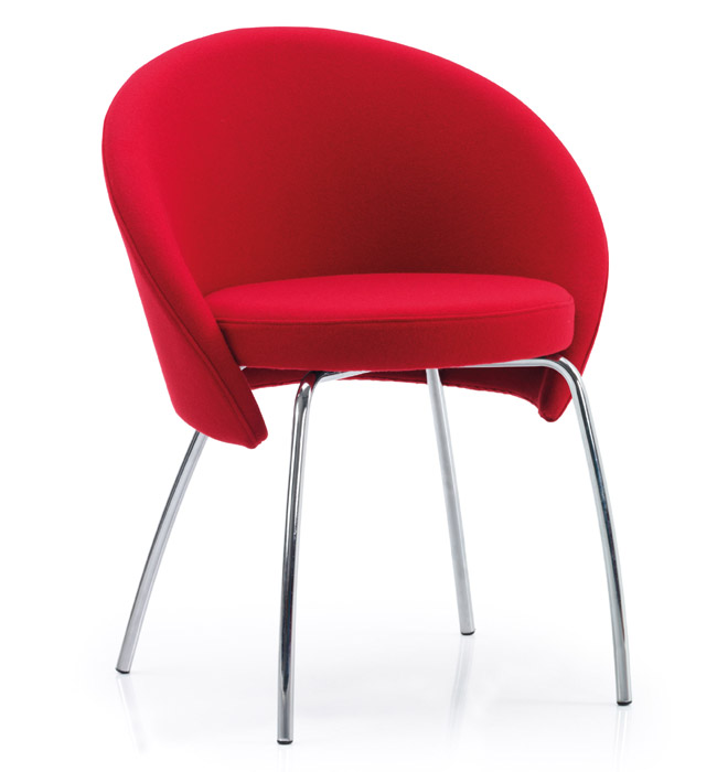 Venus reception chair in red