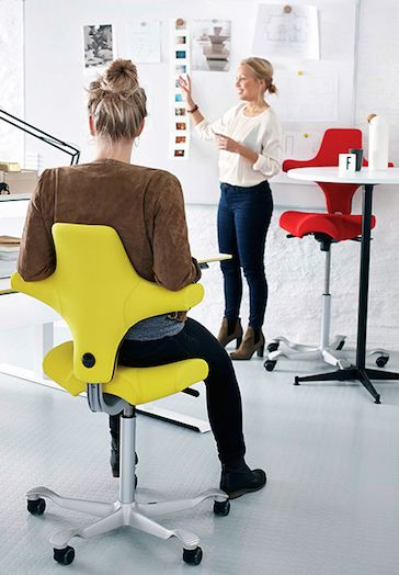 capisco chair home office yellow