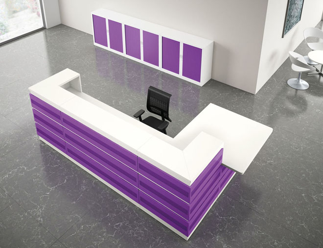 Guest reception unit purple