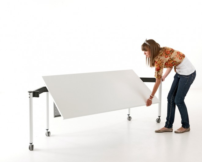 Easy for one person to move, make or store without need for tools or trolley