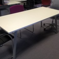 Script Table 1800 x 800 White On Grey Frame