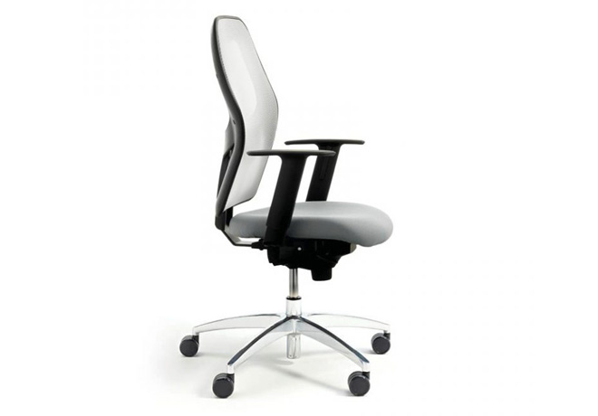 As shown in optional White Mesh, with any colour 100% wool seat pad and arms £399+VAT
