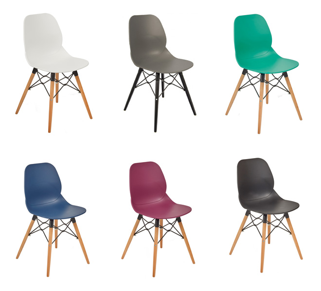 Eames style dining chairs colours