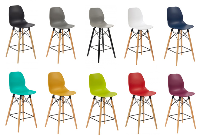 Eames style Wood Leg High Chairs