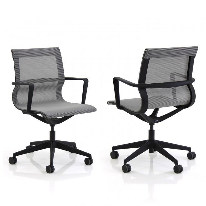 Grey mesh chair on black frame £245+VAT